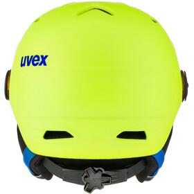 UVEX Junior Visor Pro Casco de bicicleta Niños, neon yellow mat